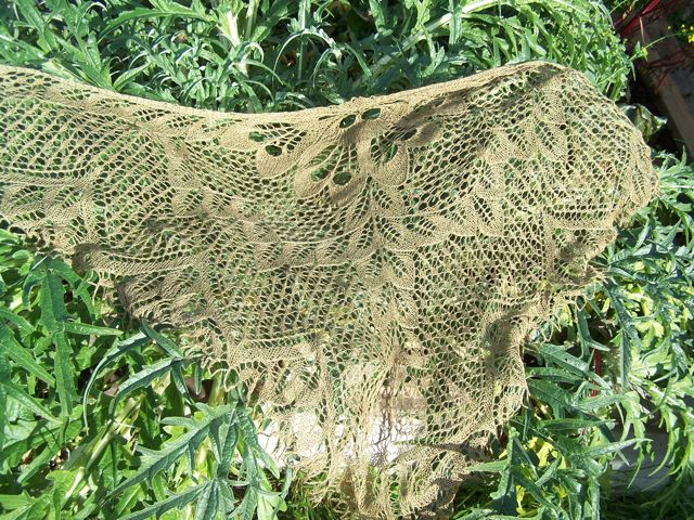 Leaves Shawl 3