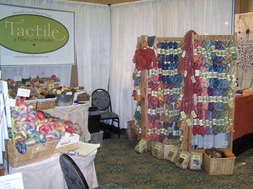 Madrona booth - yarn side