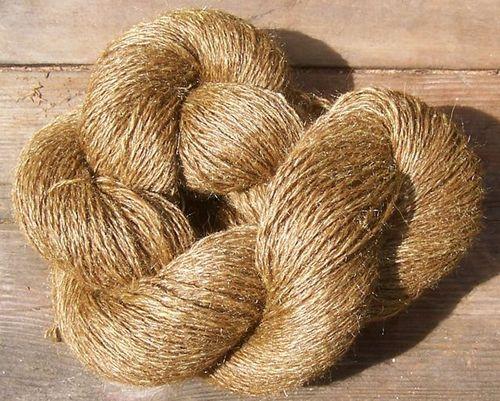 Meyer Lemon Choc Alpaca-Tussah lace