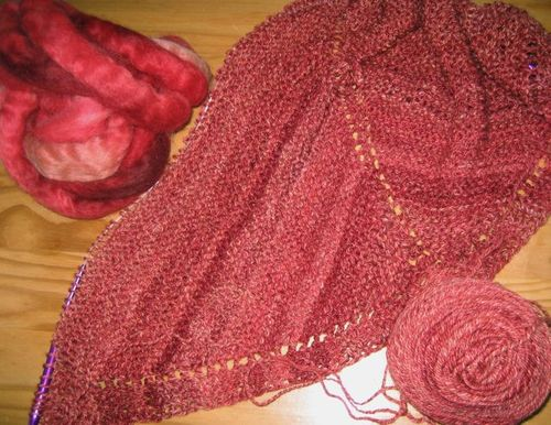 Winesap Shawl 1