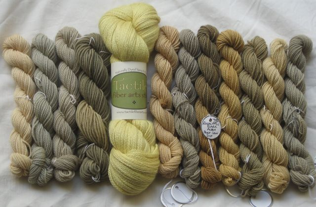 WC test skeins